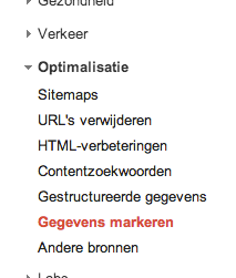 Google Webmaster Tools - Data Highlighter - Gegevens markeren