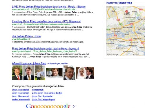 Zoekresultaten Google Zoeken 'johan friso' 16:57u