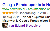 Authorship markup binnenkort in Google.nl?