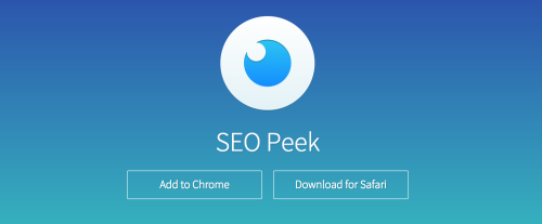 Browser extension SEO peek