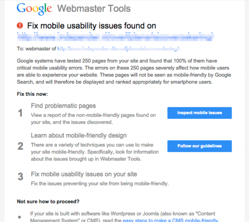 Google webmaster tools melding fix mobile usability issues