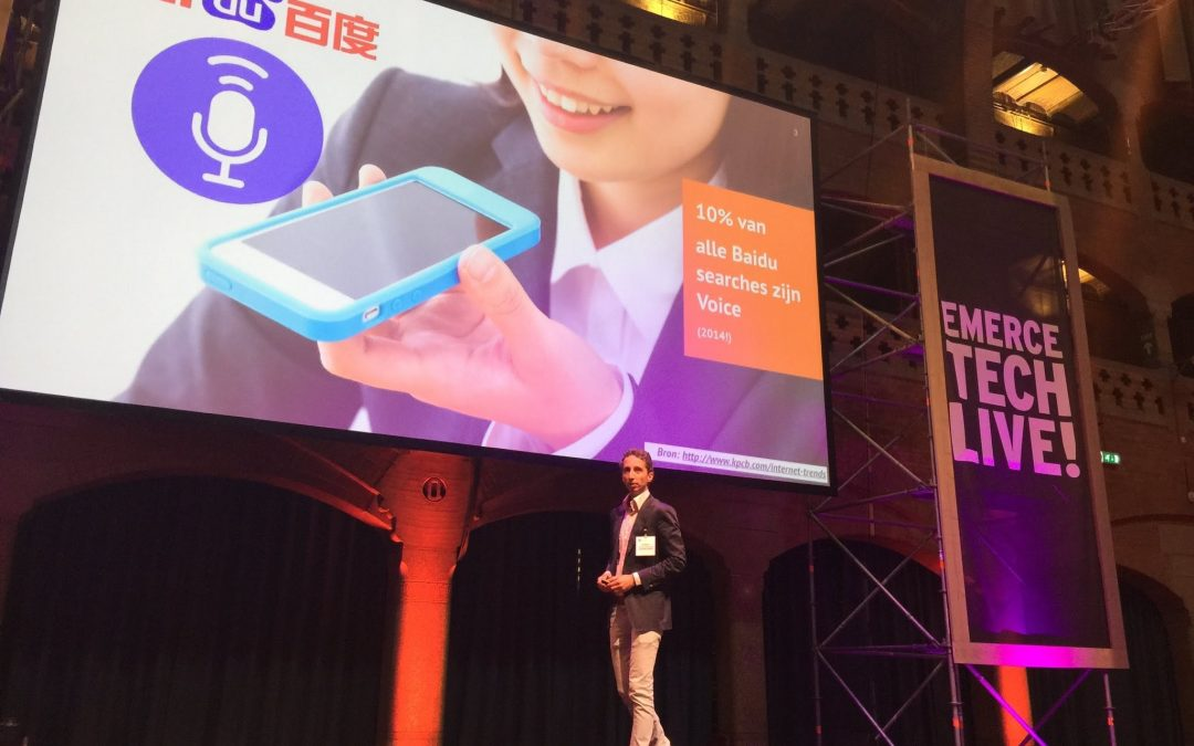 Spreken op Tech Live! over Voice Search trends & impact
